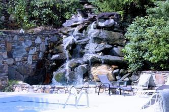 pool by mini waterfall